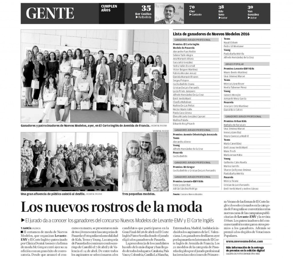 Asensio Odontología Avanzada junto a los nuevos modelos de la moda de la Comunitat Valenciana