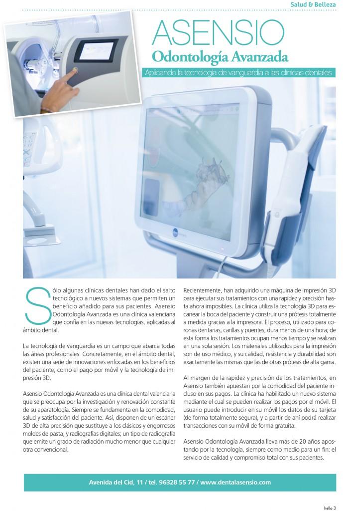 Asensio Odontología Avanzada en Hello Valencia