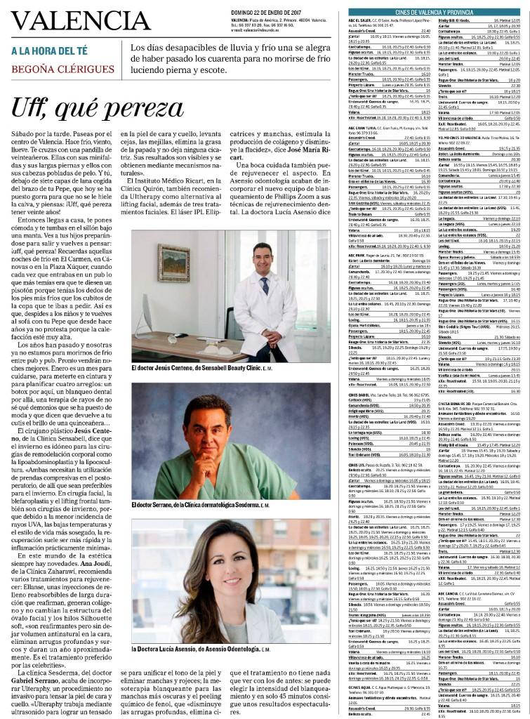 """La Dra. Lucía Asensio en """"La hora del té"""" 22 de Enero de 2017"""